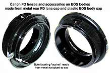 Home-made Adapter for Canon FD lenses on EOS bodies