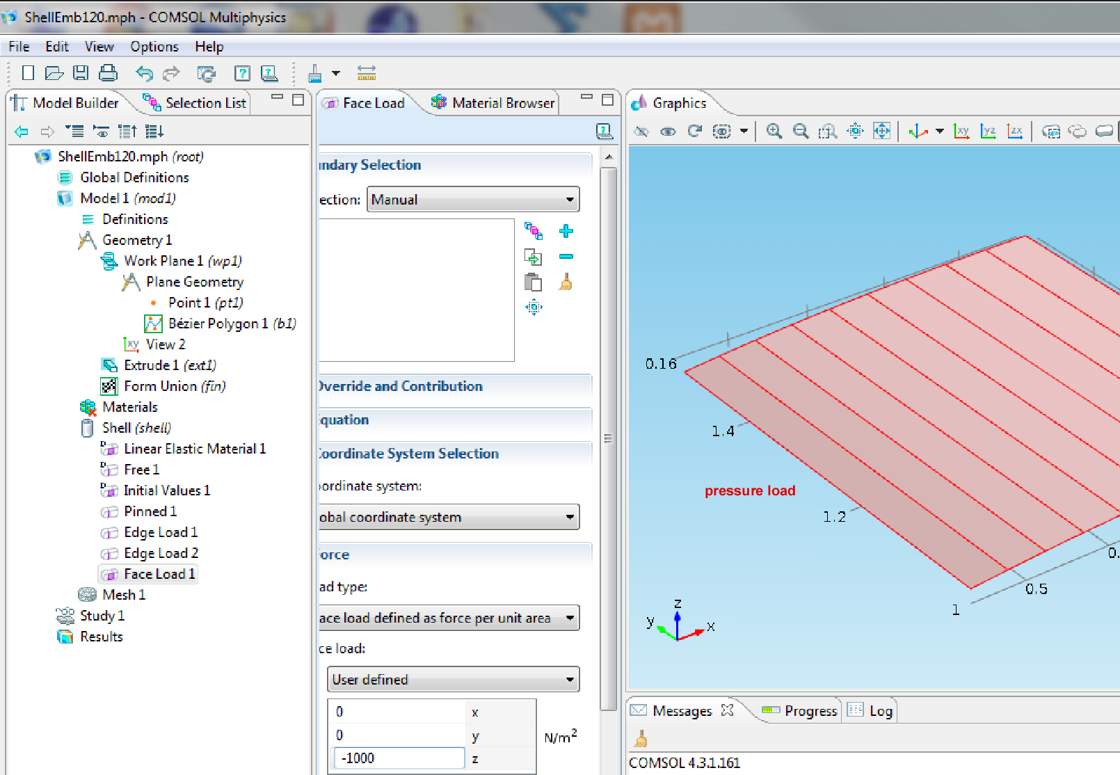 how to add a maxwell pressure comsol